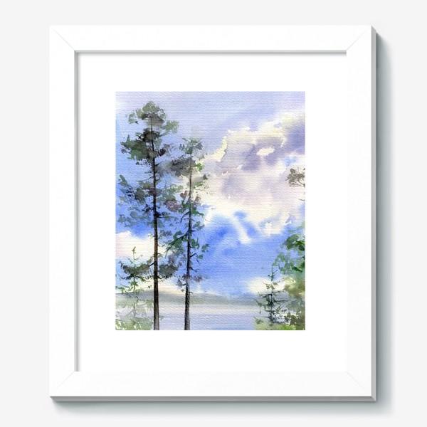 Картина «Акварель Летний лес»