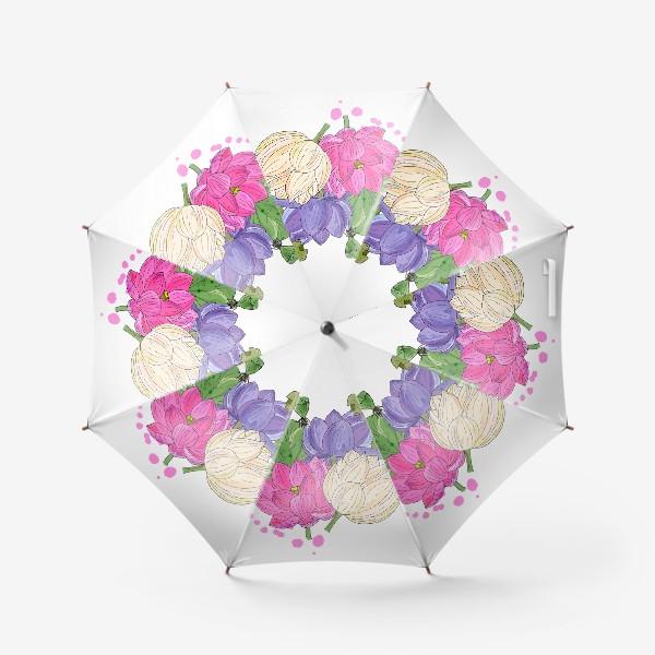 Зонт «букет лотосов»