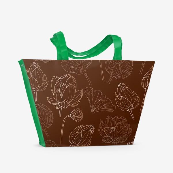 Пляжная сумка «золотые лотосы»