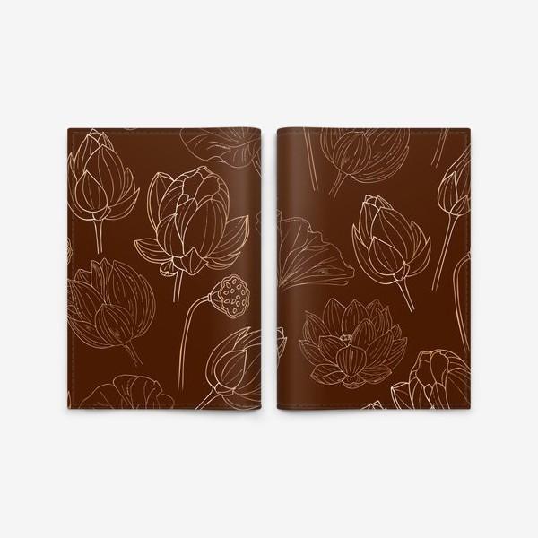 Обложка для паспорта «золотые лотосы»