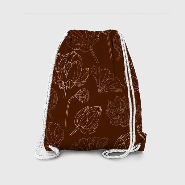 Рюкзак «золотые лотосы»