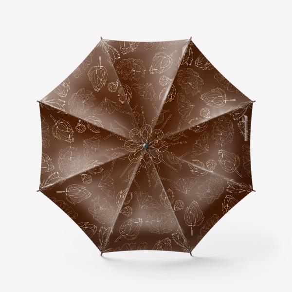 Зонт «золотые лотосы»