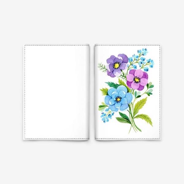 Обложка для паспорта «Фиолетовые цветы»