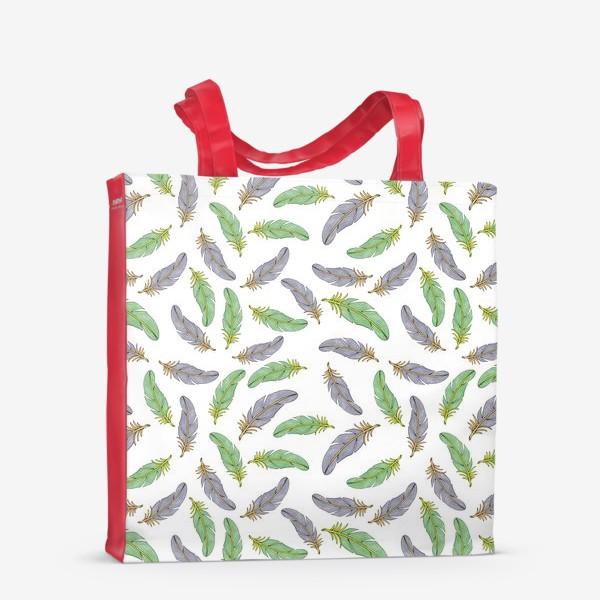 Сумка-шоппер «Перья»