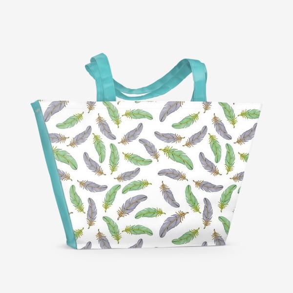 Пляжная сумка «Перья»