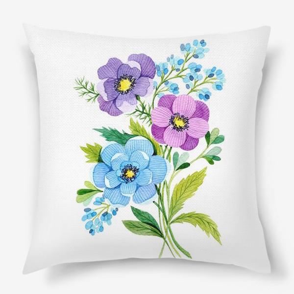 Подушка «Фиолетовые цветы»
