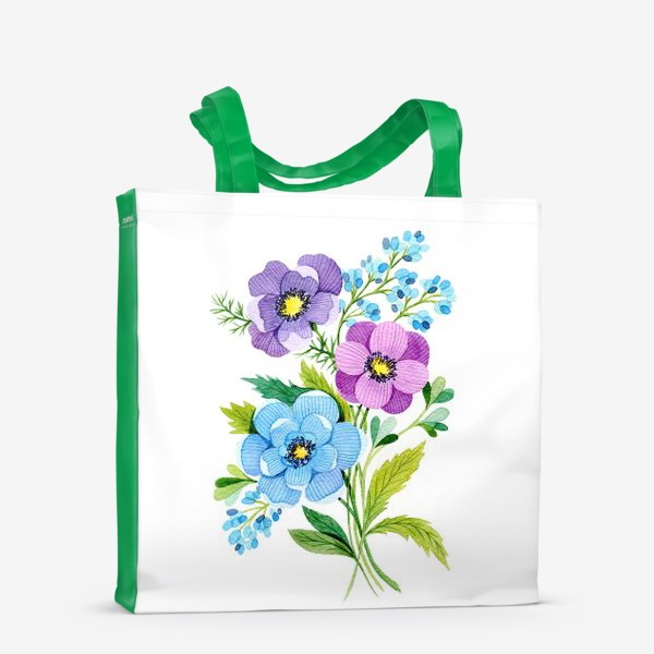 Сумка-шоппер «Фиолетовые цветы»