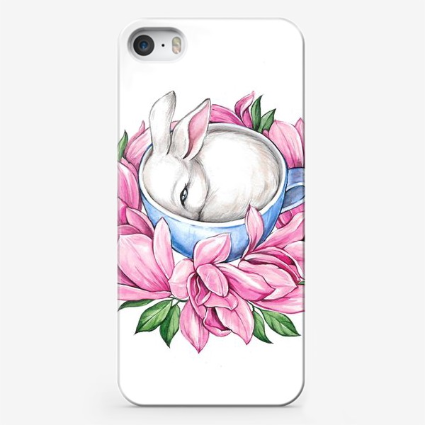 Чехол iPhone «Кролик в чашке»