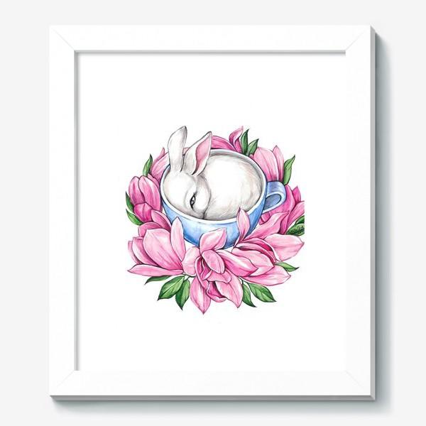 Картина «Кролик в чашке»