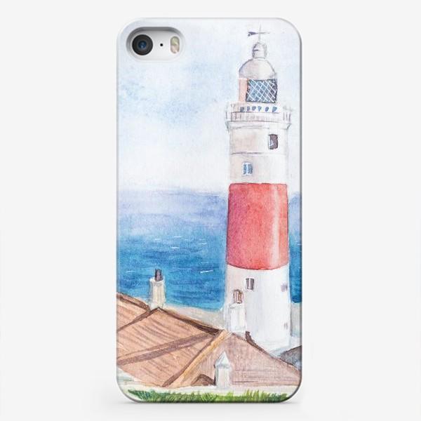Чехол iPhone «Маяк и море»