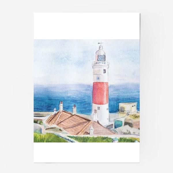 Постер «Маяк и море»