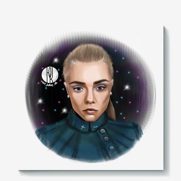 Холст «Девушка в космосе »