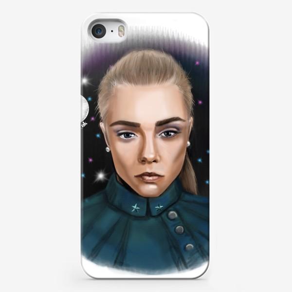 Чехол iPhone «Девушка в космосе »
