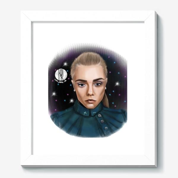 Картина «Девушка в космосе »