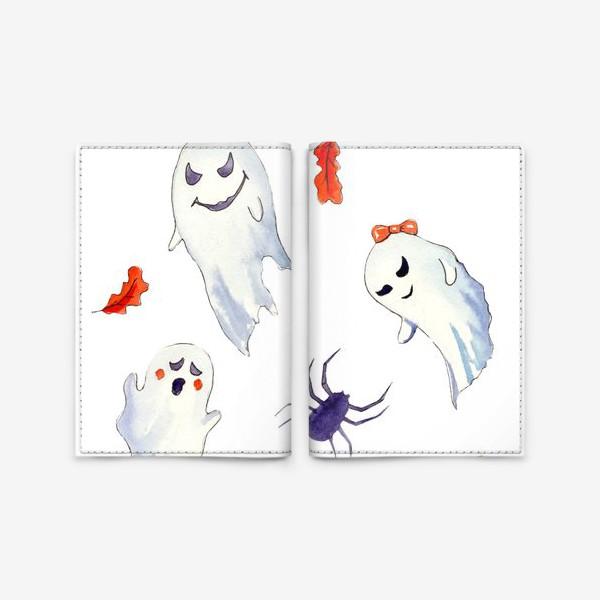 Обложка для паспорта «Милые приведения на Хэллоуин »