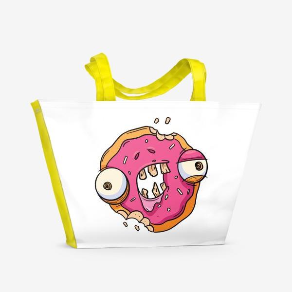 Пляжная сумка «Зомби Пончик»