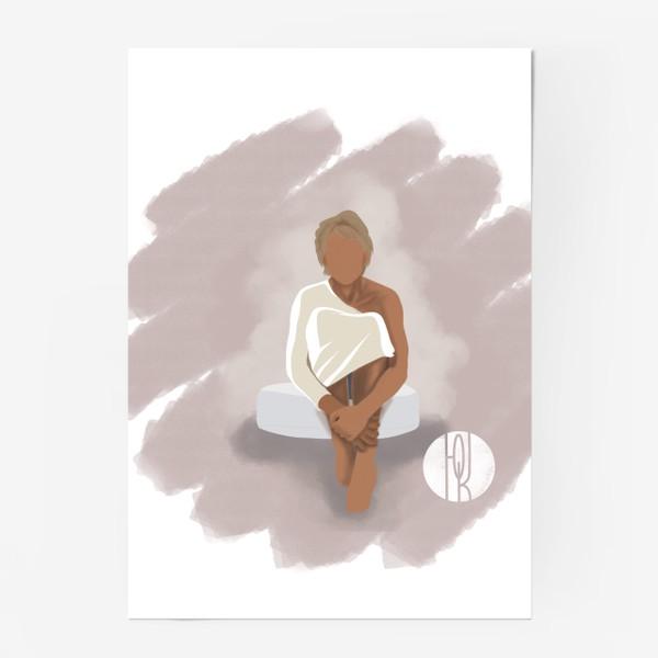 Постер «Девушка на пуфе»