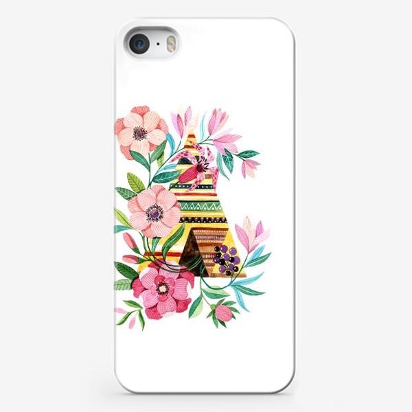 Чехол iPhone «Вигвам с цветами»