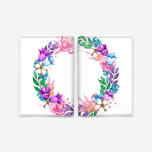 Обложка для паспорта «Венок с колокольчиками»
