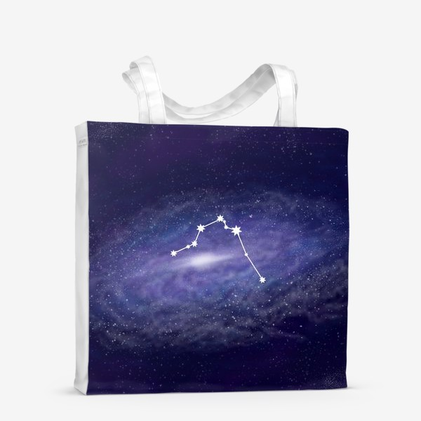 Сумка-шоппер «Созвездие Водолей. Галактика»
