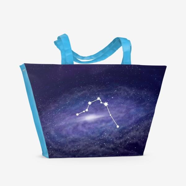 Пляжная сумка «Созвездие Водолей. Галактика»