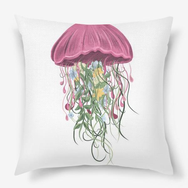 Подушка «Медуза и цветы»