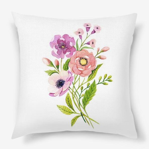Подушка «Коралловые цветы»