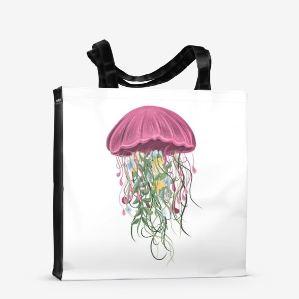 Сумка-шоппер «Медуза и цветы»