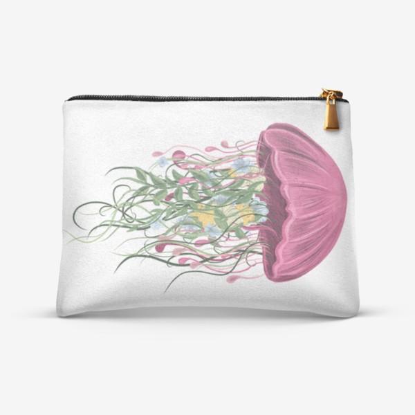 Косметичка «Медуза и цветы»