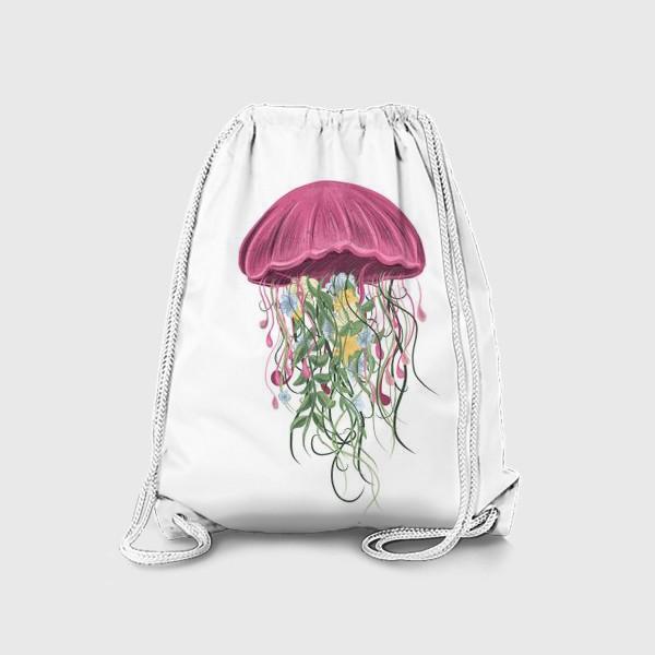 Рюкзак «Медуза и цветы»