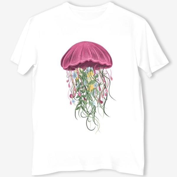 Футболка «Медуза и цветы»