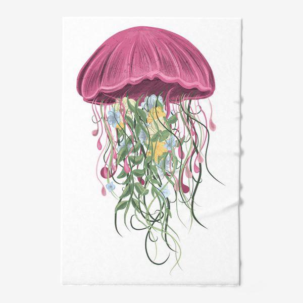 Полотенце «Медуза и цветы»