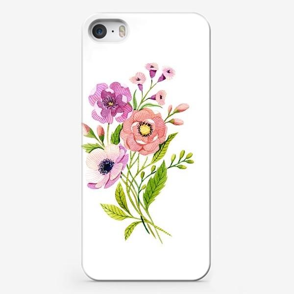 Чехол iPhone «Коралловые цветы»