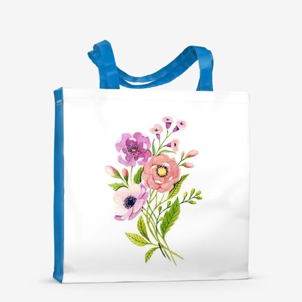 Сумка-шоппер «Коралловые цветы»