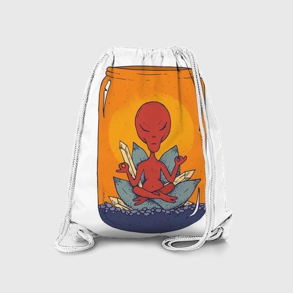 Рюкзак «Медитация пришельца в банке»