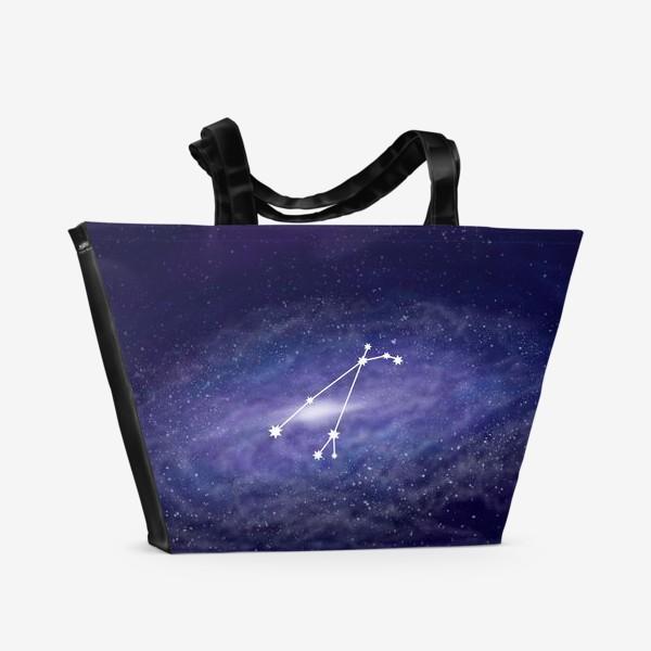 Пляжная сумка «Созвездие Овен. Галактика»