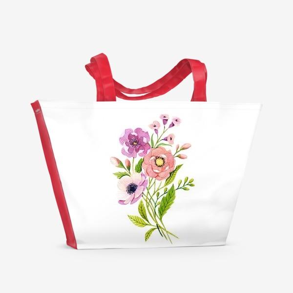 Пляжная сумка «Коралловые цветы»