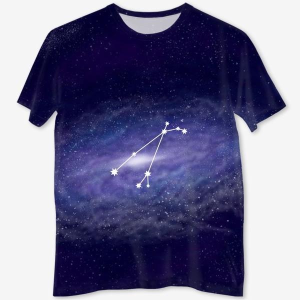 Футболка с полной запечаткой «Созвездие Овен. Галактика»