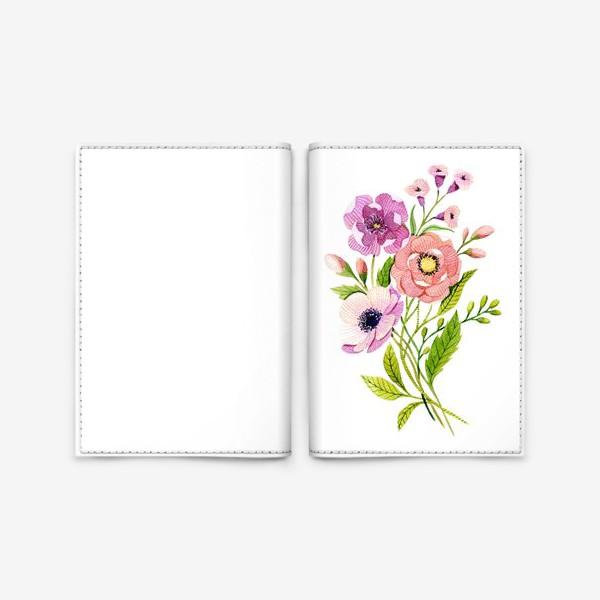 Обложка для паспорта «Коралловые цветы»