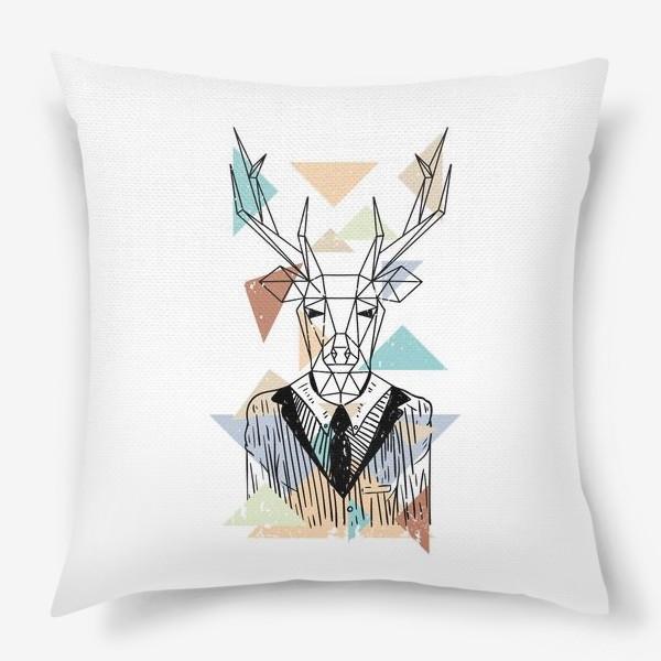 Подушка «Геометрический олень»