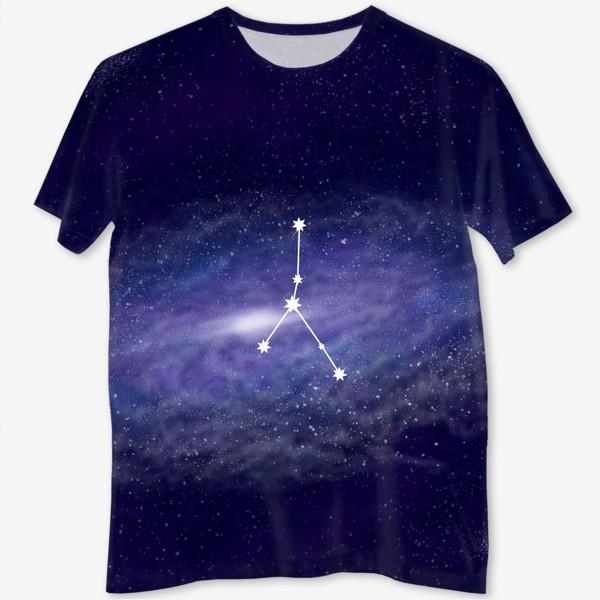 Футболка с полной запечаткой «Созвездие Рак. Галактика»