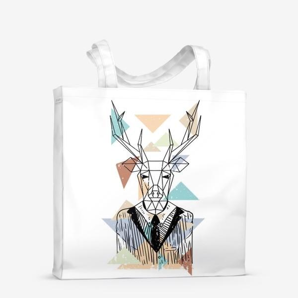 Сумка-шоппер «Геометрический олень»