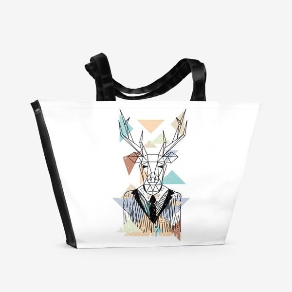 Пляжная сумка «Геометрический олень»