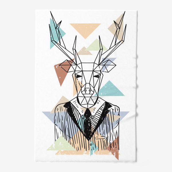 Полотенце «Геометрический олень»