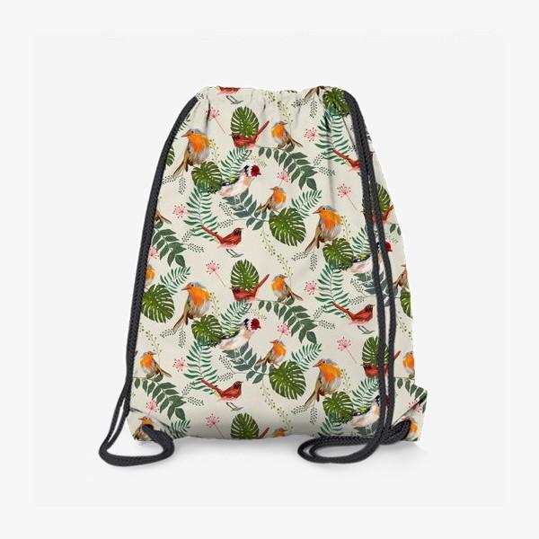 Рюкзак «Листья и птицы»