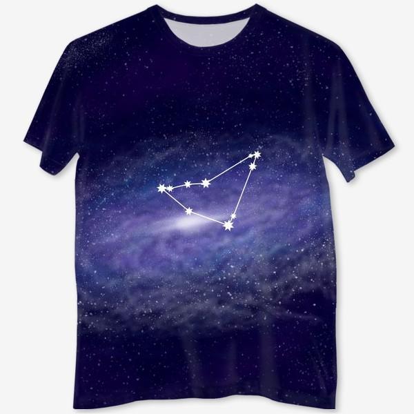 Футболка с полной запечаткой «Созвездие Козерог. Галактика»