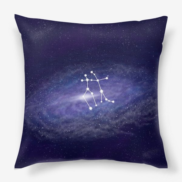 Подушка «Созвездие Близнецы. Галактика»