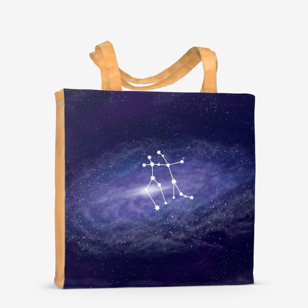 Сумка-шоппер «Созвездие Близнецы. Галактика»