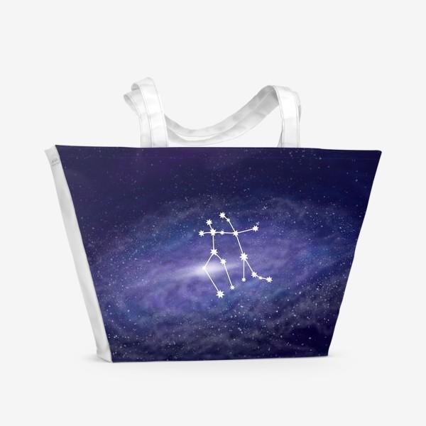 Пляжная сумка «Созвездие Близнецы. Галактика»