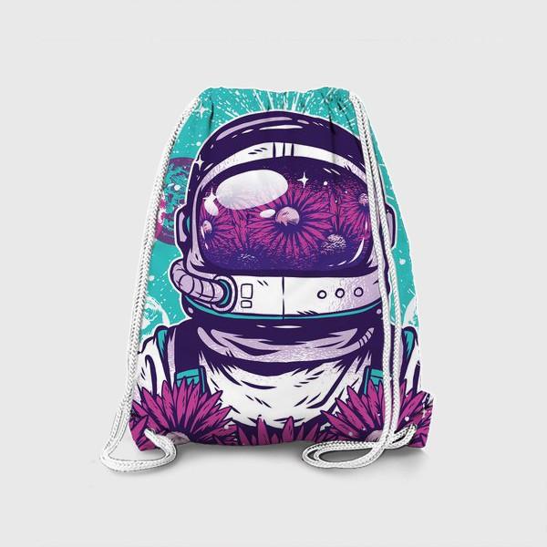 Рюкзак «Космонавт с цветами»